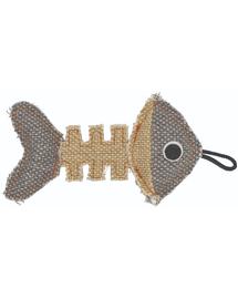 BARRY KING Jucărie Schelet de pește gri / crem 14 x 7,5 cm