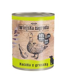 WIEJSKA ZAGRODA hrană umedă fără cereale, rață și pere 800 gr
