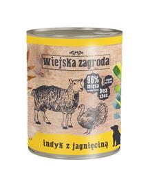 WIEJSKA ZAGRODA hrană umedă fără cereale, curcan și miel 800 gr