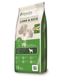 FITMIN Medium/Maxi Hrană uscată cu miel și orez 14 kg