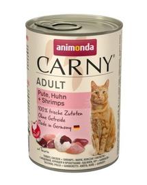 ANIMONDA Carny Adult curcan, pui și creveți 400 gr
