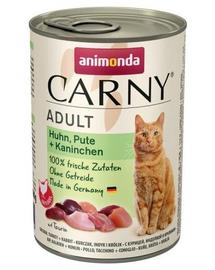 ANIMONDA Carny Adult pui, curcan și iepure 400 gr
