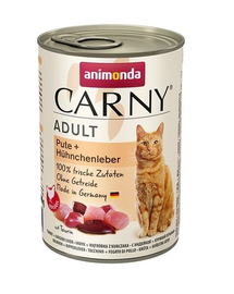 ANIMONDA Carny Adult curcan și ficat de pui 400 gr
