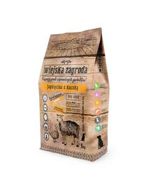 WIEJSKA ZAGRODA Hrană uscată pentru câini de talie mică/mijlocie, miel și rață 9 kg