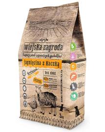 WIEJSKA ZAGRODA Hrană uscată pentru câini de talie mică/mijlocie, miel și rață 2 kg