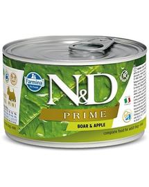 FARMINA N&D Prime Dog Mini mistreț & măr 140 g