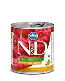 FARMINA N&D Dog Quinoa prepeliță & cocos 285 gr