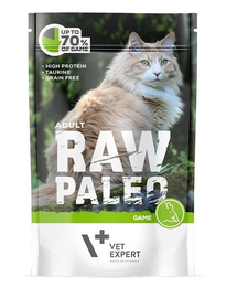 VETEXPERT RAW PALEO Cat Adult cu vânat 100 g