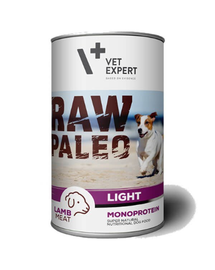 VETEXPERT RAW PALEO Adult Light cu miel 400 g