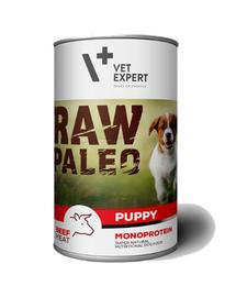 VETEXPERT RAW PALEO Puppy cu vită 400 g