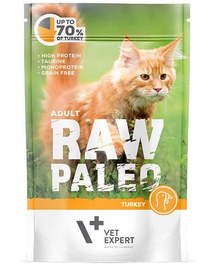 VETEXPERT RAW PALEO Cat Adult cu carne de curcan 100 g