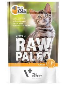 VETEXPERT RAW PALEO Kitten cu carne de curcan 100 g