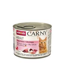 ANIMONDA Carny Adult curcan, pui și creveți 200 gr