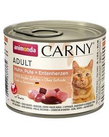ANIMONDA Carny Adult pui, curcan și inimi de rață 200 gr