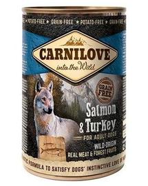 CARNILOVE Wild Meat Salmon&Turkey somon și curcan 400 gr