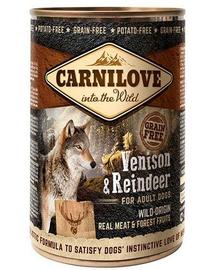 CARNILOVE Wild Meat Vension&Reindeer vânat și ren 400 gr
