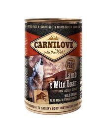 CARNILOVE Wild Meat Lamb&Wild Boar miel și misteț 400 gr