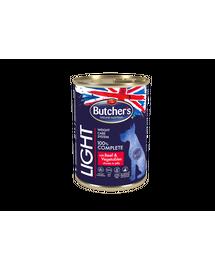 BUTCHER'S Functional Dog Light cu vită și legume în sos 400 gr