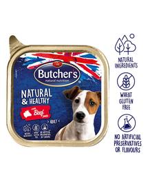 BUTCHER'S Natural&Healthy Dog pate cu vită 150 gr