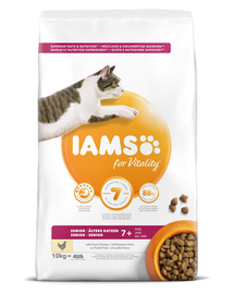 IAMS for Vitality pentru pisici în vârstă, cu pui 10 kg