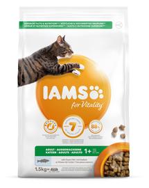 IAMS for Vitality pentru pisici adulte, cu pește oceanic 1.5 kg
