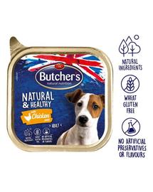 BUTCHER'S Natural&Healthy Dog pate cu pui 150 gr
