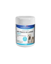 FRANCODEX Șervețele pentru eliminarea urmelor de lacrimi, impurități și secreții, pentru câini și pisici 50 buc.