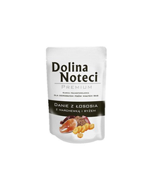 DOLINA NOTECI Premium cu somon, morcovi și orez 100 g