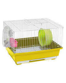 PANAMA PET Cușcă pentru rozătoare mici 30x23x20 cm alb/galben