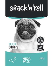 SNACK & ROLL Duck Strips, cu rață 200 g