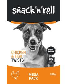 SNACK & ROLL Chicken and Fish Twists, cu pui și pește 200 g