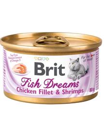 BRIT Cat Fish Dreams hrană umedă pentru pisici, pui și creveți 80 g