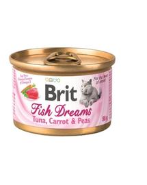 BRIT Cat Fish Dreams hrană umedă pentru pisici, ton, morcovi și mazăre 80 g