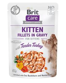 BRIT Care Cat Fillets in gravy, file de curcan în sos 85 g