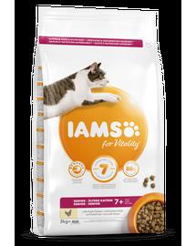 IAMS For Vitality pentru pisici vârstnice, cu pui 3 kg