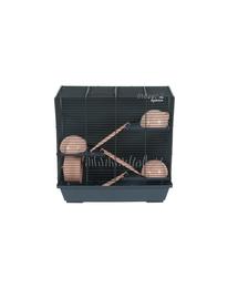 ZOLUX Cușcă INDOOR2 50 Triplex pentru hamster - albastru/roz deschis