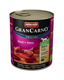 ANIMONDA Grancarno Adult vită și inimi 800 gr