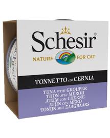SCHESIR Hrană umedă pentru pisici, cu ton și grouper 85 g