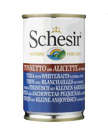 SCHESIR Hrană umedă pentru pisici, cu ton și hamsii 140 g