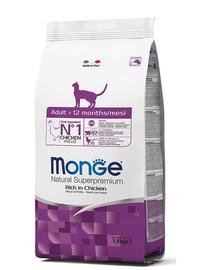 MONGE Cat Adult hrană uscată pentru pisici adulte, cu pui 1.5 kg