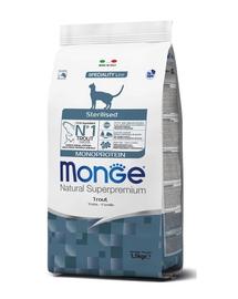MONGE Monoprotein Cat Sterilised pentru pisici sterilizate, cu păstrăv 400 g
