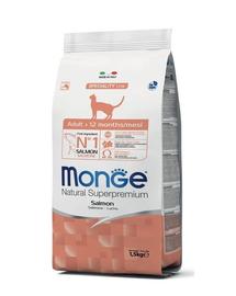MONGE Cat Adult hrană uscată pentru pisici adulte, cu somon 400 g