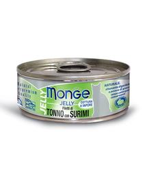 MONGE Jelly hrană umedă pentru pisici, cu ton și surimi 80 g