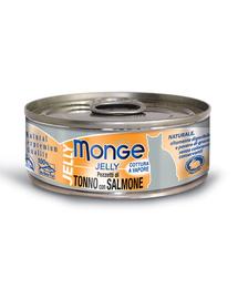 MONGE Jelly hrană umedă pentru pisici, cu ton și somon 80 g