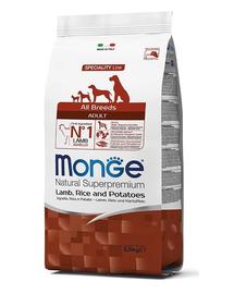 MONGE hrană uscată pentru câini, miel cu orez și cartofi 2,5 kg