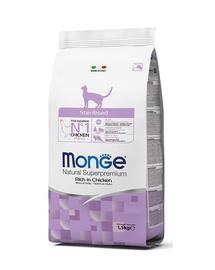 MONGE Cat Sterilised hrană pentru pisici sterilizate 1.5 kg