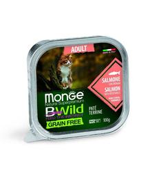 MONGE BWild Cat Adult hrană umedă pentru pisici, cu somon 100 g