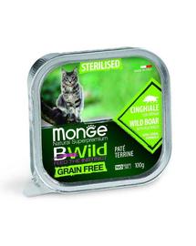 MONGE BWild Sterilised hrană umedă pentru pisici sterilizate, cu mistreț 100 g