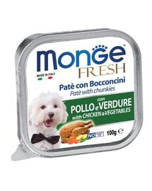 MONGE Fresh hrană umedă pentru câini sub formă de pate, cu pui și legume 100 g