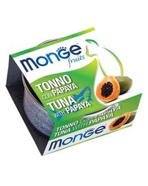 MONGE Fruit hrană umedă pentru pisici, cu ton și papaya 80 g